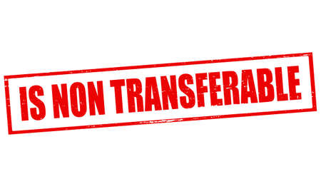 transferable: Stamp with text is non transferable inside, vector illustration Illustration