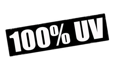 uv: Sello con el texto al cien por cien UV interior, ilustraci�n vectorial Vectores