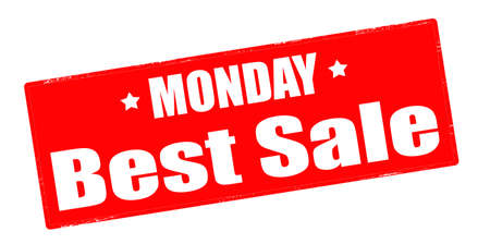 weekdays: Stamp with text monday best sale inside, vector illustration Illustration