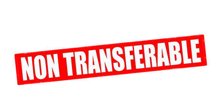 transferable: Stamp with text non transferable inside, vector illustration Illustration