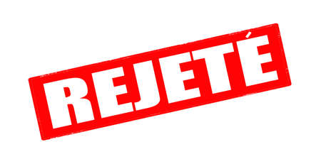 rejection: Stamp with word rejection in Haitian language inside, vector illustration