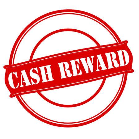 remuneration: Stamp with text cash reward inside, vector illustration Illustration
