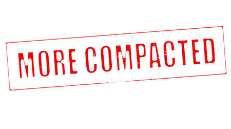 compacted: Stamp with text more compacted inside, vector illustration