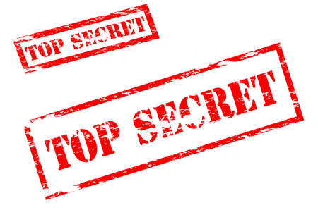 undisclosed: Stamp with text top secret inside, vector illustration