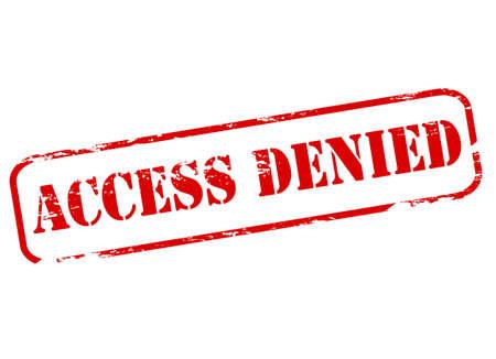 denied: Sello con acceso al texto neg� interior, ilustraci�n vectorial