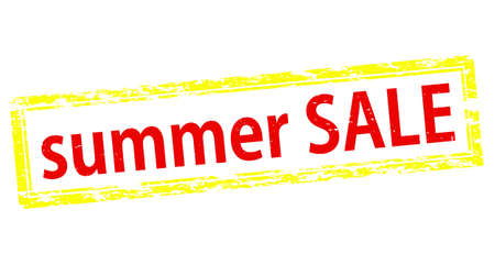 cousin: Stamp with text summer sale inside, vector illustration