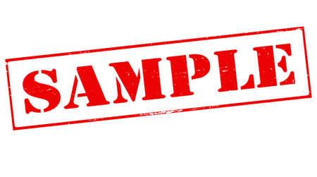probation: Stamp with word sample inside, vector illustration Illustration
