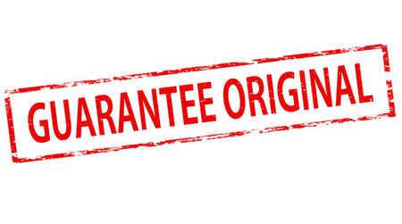 guaranty: Stamp with text guarantee original inside, vector illustration