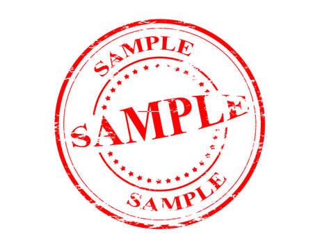 muster: Stamp with word sample inside, vector illustration Illustration