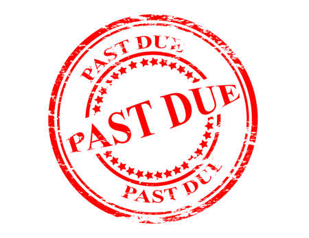 past due: Stamp with text past due inside, vector illustration