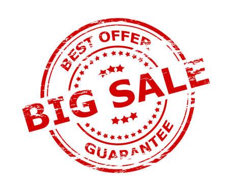 sponsorship: Stamp with text big sale inside, vector illustration