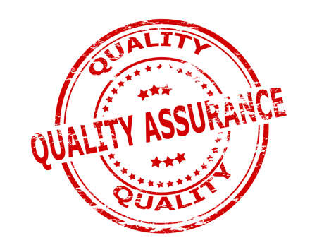 quality assurance: Stamp with text quality assurance inside, vector illustration
