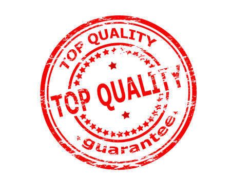 guaranty: Stamp with text top quality inside, vector illustration