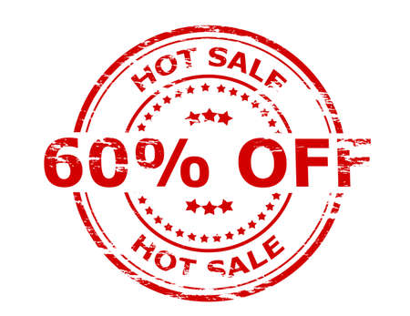 scorching: Stamp with text hot sale inside, vector illustration