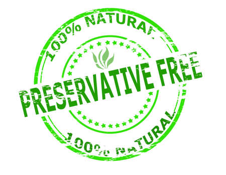 preservative: Stamp with text preservative free inside, vector illustration