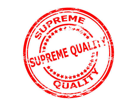 supreme: Stamp with text supreme quality inside, vector illustration Illustration