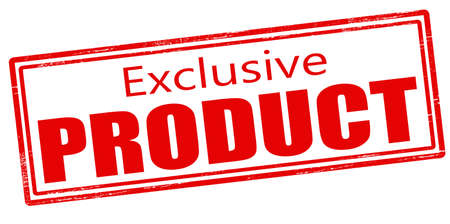 exclusive: Stamp with text exclusive product inside, vector illustration