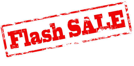 Rubber stamp with text flash sale inside, vector illustration