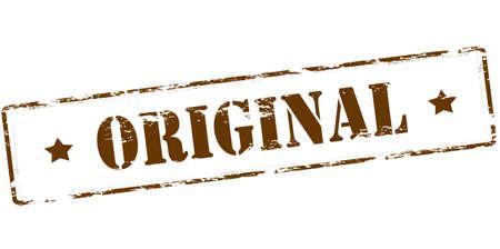 original: Rubber stamp with word original inside, vector illustration
