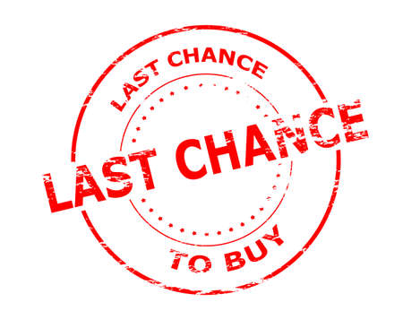 last chance: Rubber stamp with text last chance to buy inside, vector illustration