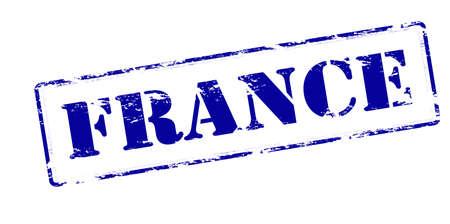 france stamp: Rubber stamp with word France inside, vector illustration Illustration