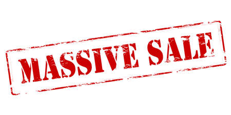 massy: Rubber stamp with text massive sale inside, vector illustration