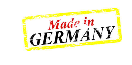 made in germany: Rubber stamp with text made in Germany inside, vector illustration