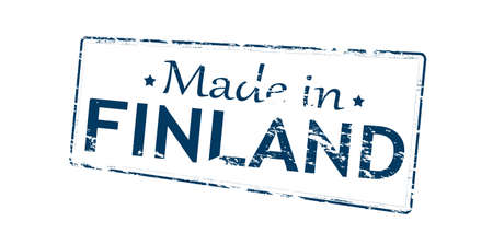 made in finland: Rubber stamp with text made in Finland inside, vector illustration