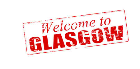 glasgow: Rubber stamp with text welcome to Glasgow inside, vector illustration