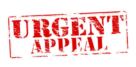 appeal: Rubber stamp with text urgent appeal inside illustration