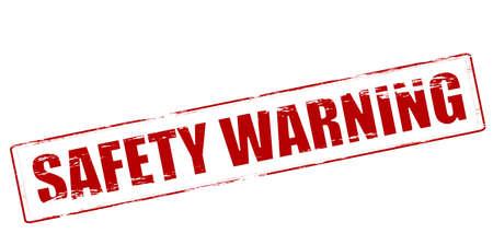 surety: Timbro di gomma con avviso di sicurezza testo all'interno di illustrazione Vettoriali