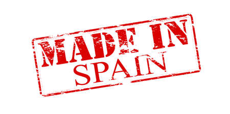 made in spain: Rubber stamp with text made in Spain inside illustration Illustration