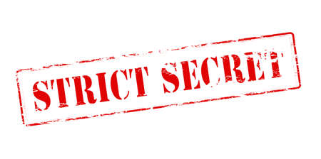 strict: Rubber stamp with text strict secret inside, vector illustration
