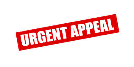 appeal: Rubber stamp with text urgent appeal inside, vector illustration