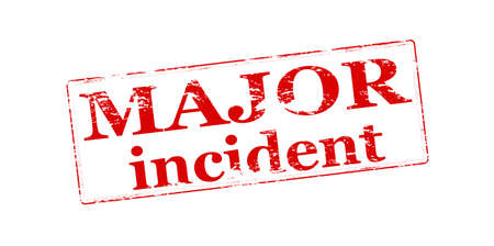 occurrence: Rubber stamp with text major incident inside