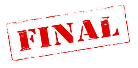 conclusive: Rubber stamp with word final inside Stock Photo