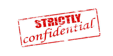 strictly: Rubber stamp with text strictly confidential inside
