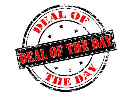 Stempel mit Text Deal des Tages innen