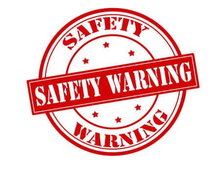 surety: Timbro di gomma con avviso di sicurezza testo all'interno