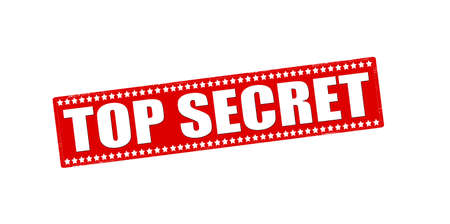 undisclosed: Rubber stamp with text top secret inside