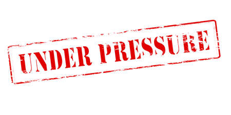 intensity: Rubber stamp with text under pressure inside Illustration