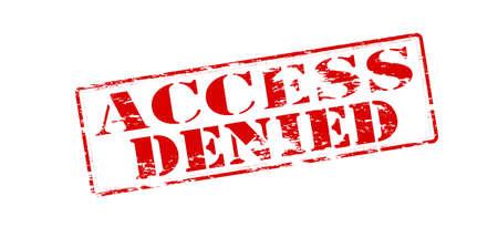 denied: Sello de goma con acceso al texto neg� el interior Vectores