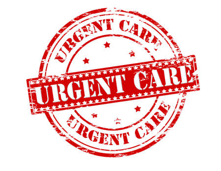 emergent: Rubber stamp with text urgent care inside