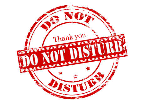 Rubber stamp with text do not disturb inside Illustration