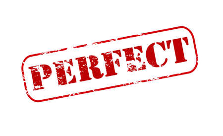 perfect: Rubber stamp with word perfect inside Illustration