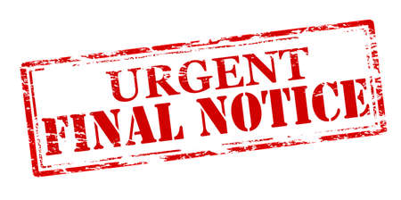 urgent announcement: Rubber stamp with text final notice inside