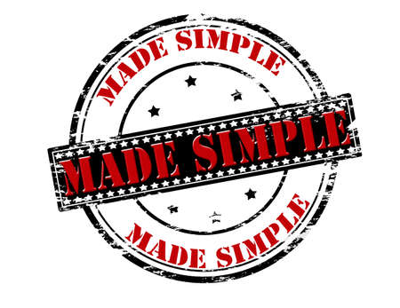 minded: Rubber stamp with text made simple inside