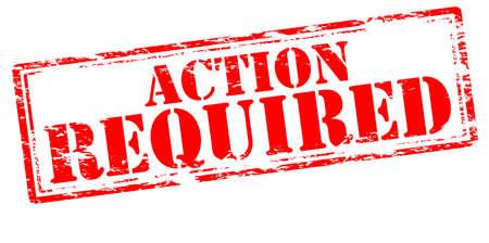 действие: Резиновая печать с текстом действий требуется внутри