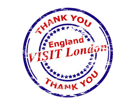 london england: Rubber stamp with text visit London England inside Illustration