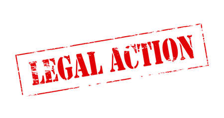 lawful: Rubber stamp with text legal action inside Illustration